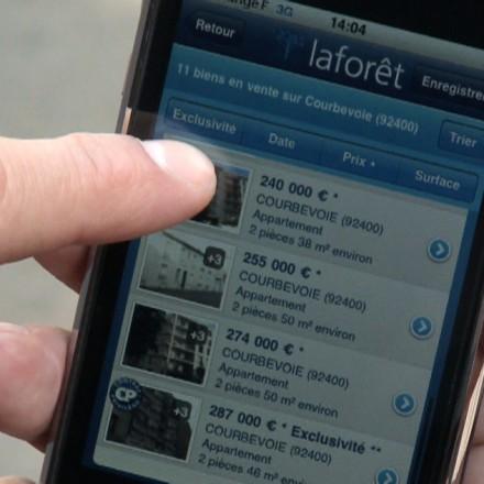 Démo de l'appli Iphone Laforet